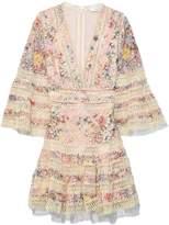 Zimmermann Lovelorn Floral Flutter Dress in Pink Floral