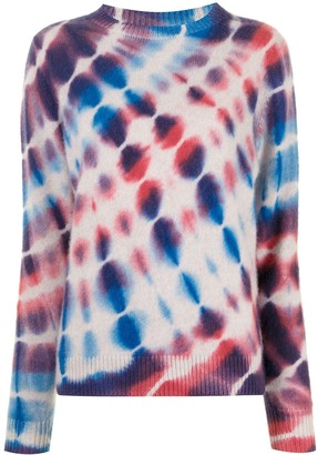 The Elder Statesman Tie-Dye Cashmere Jumper