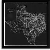 Bed Bath & Beyond Texas Map Canvas Floater Frame Wall Art