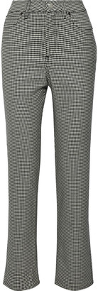 Simon Miller Printed Wool Slim-leg Pants