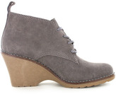White Mountain Lambert Lace-Up Wedge Bootie