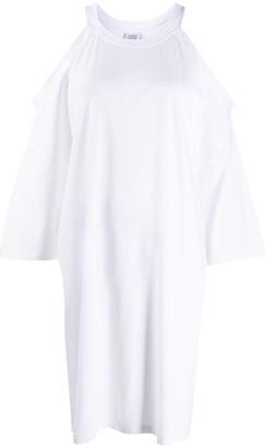 Vetements Cold-Shoulder Shift Dress