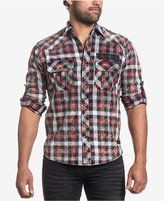 Affliction Men's Hail Storm Plaid Cotton Shirt