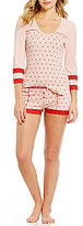 Betsey Johnson Heart-Print Pajamas