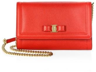 Salvatore Ferragamo Mini Miss Vara Leather Crossbody Bag