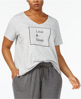Alfani Plus Size Graphic Pajama T-Shirt, Created for Macy's