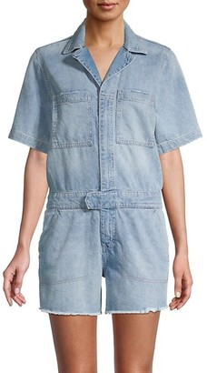 DL1961 Short-Sleeve Denim Romper