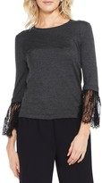 Vince Camuto Women's Lace Cuff Sweater