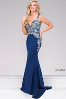 Jovani Fitted Floral Embroidery Prom Dress 50250