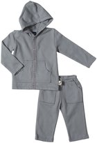 Charlie Rocket Fleece Hoodie & Pant Set (Baby) - Granite-12-18 Months