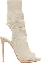 Christian Louboutin Cheminene 120 Cutout Stretch-knit Sock Boots