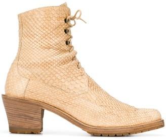 A.N.G.E.L.O. Vintage Cult 1990's lace-up ankle boots
