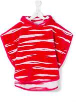 Kenzo tiger stripes towel robe - kids - Cotton - 2 yrs