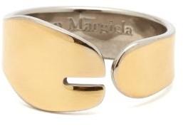 Maison Margiela Tabi-split Sterling-silver Ring - Yellow Gold