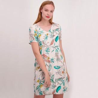 Vero Moda Palm Tree Print Shift Dress