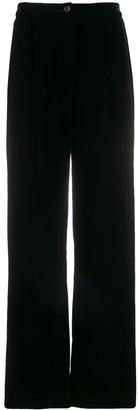 In The Mood For Love Velvet Wide-Leg Trousers