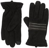 Calvin Klein Men's Suede Quilted Matte Shine Glove with Touchscreen Technology