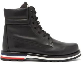 Moncler Vancouver Leather Boots - Mens - Black