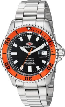 Seapro Men's SP4313 Scuba 200 Analog Display Automatic Self Wind Silver Watch