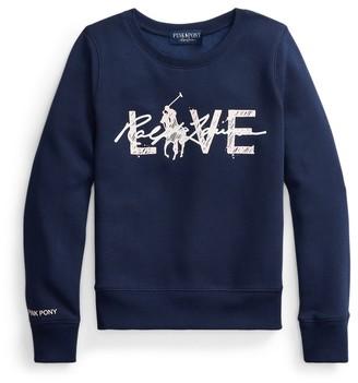 Ralph Lauren Pink Pony Live Love Sweatshirt