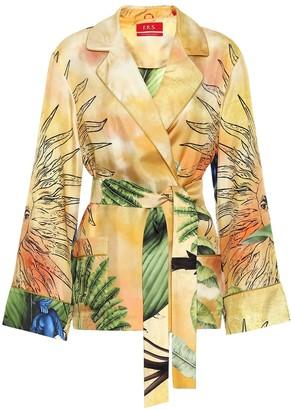 F.R.S For Restless Sleepers Giocasta printed silk pajama jacket