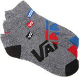 Vans Men's Solid Pebble No Show Socks - 3 Pack
