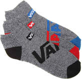 Vans Solid Pebble No Show Socks - 3 Pack - Men's