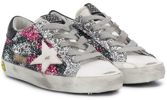 Golden Goose Kids Lace-Up Glitter Detail Sneakers