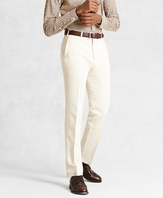 Brooks Brothers Golden Fleece Linen Cotton Chino Trousers