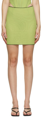 Miaou Green Moni Miniskirt