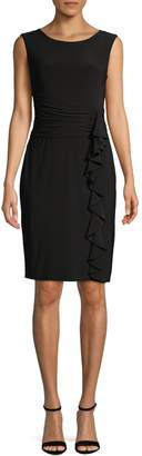 Eliza J Sleeveless Ruch Sheath Dress