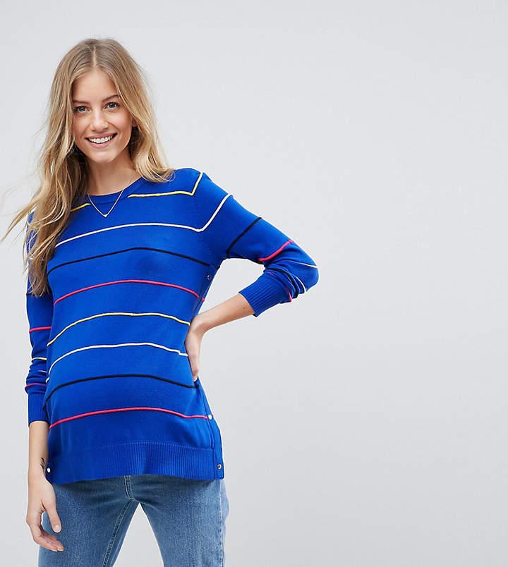 Asos (エイソス) - ASOS Maternity - Nursing ASOS DESIGN Maternity Nursing sweater in stripes with side poppers