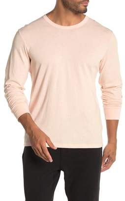 Jason Scott Crew Neck Solid Long Sleeve T-Shirt