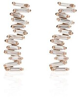 Suzanne Kalan 18kt rose gold Fireworks diamond earrings