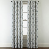 STUDIO BY JCP HOME StudioTM Casey Jacquard Grommet-Top Curtain Panel