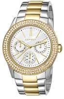 Esprit ES103822015 Women Analogue Quartz Watch with Stainless Steel Bracelet, Silver/Gold