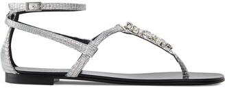 Giuseppe Zanotti Kamala python- print thong sandals