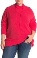 Philosophy di Lorenzo Serafini Long Sleeve Funnel Tie Neck Pullover Sweater (Plus Size)