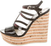 Gucci Multistrap Wedge Sandals