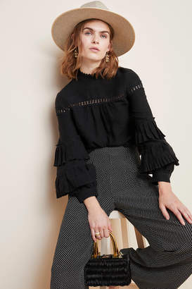 Tracy Reese Hope For Flowers By Emelie Ruffle-Sleeved Blouse