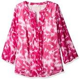 Calvin Klein Women's Plus-Size Roll-Sleeve Top