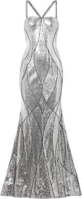 Naeem Khan Embellished Tulle Gown