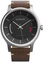 Garmin Unisex Vívomove Premium Brown Leather Strap Activity Tracking Smart Watch 42mm 010-01597-22