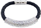 Butler & Wilson Butler and Wilson Crystal Bar Leather Cord Magnetic Bracelet