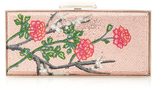 Judith Leiber Couture Large Coffered Rectangle Clutch with Cherry Blossoms