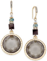 INC International Concepts Gold-Tone Beaded Crystal Drop Earrings, Only at Macy's