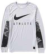Nike Dri-FIT Camo Burnout Long-Sleeve Training T-Shirt