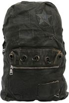 Giorgio Brato Waxed Canvas & Leather Backpack