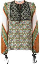 MSGM multi-print longsleeved blouse