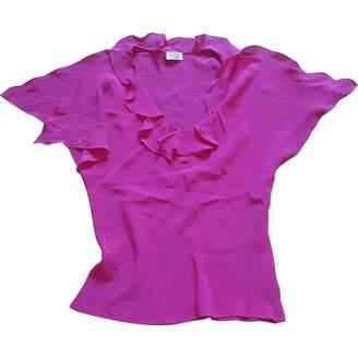 Basile Pink Silk Top for Women